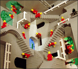 Thumbnail of Escher's Relativity in Lego