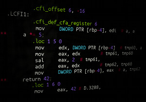 Instacode coloring of assembler code