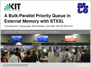First slide of the talk showing priority queues at the airport