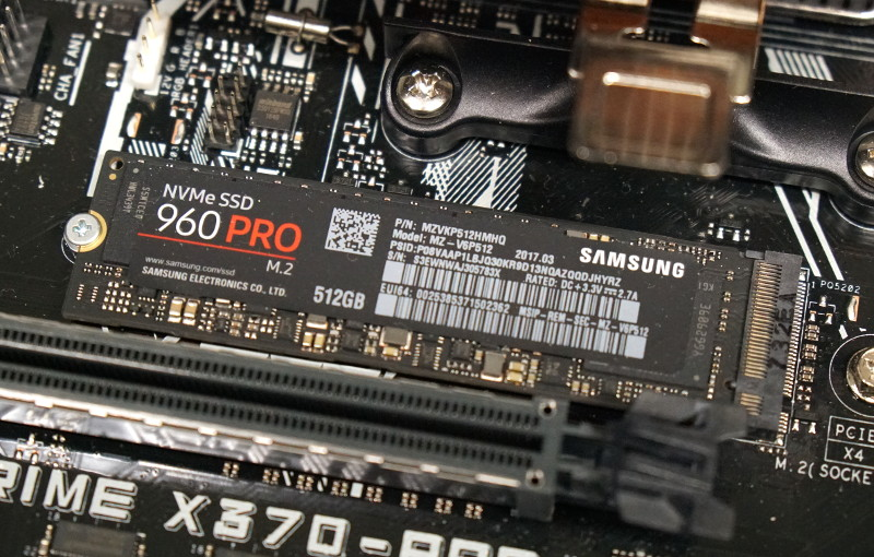 Photo of a Samsung NVMe SSD