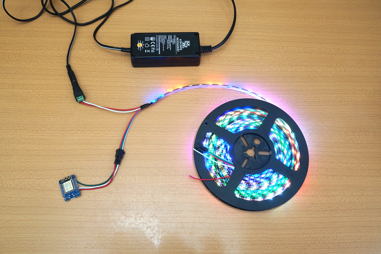 BlinkenSort - Sorting Algorithms on LEDs with ESP8266 and